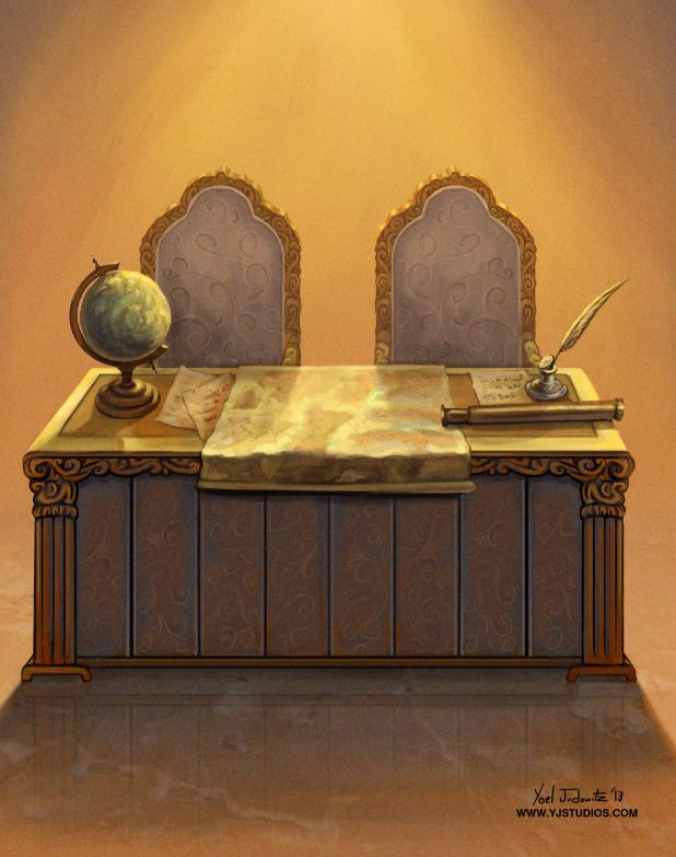 Royal Desk Illustartion