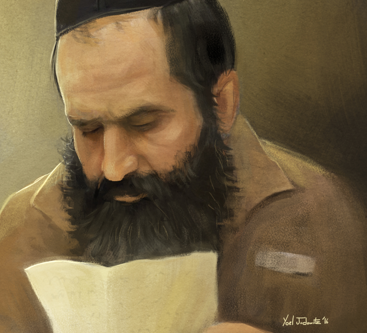 sholom rubashkin painting portrait and yated essay yoel judowitz rubashkin portrait detail